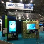大規模な太陽電池サイネージ