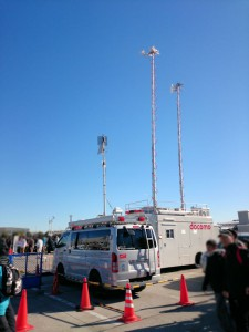 西駐車場 NTT東日本 IP通信移動無線車