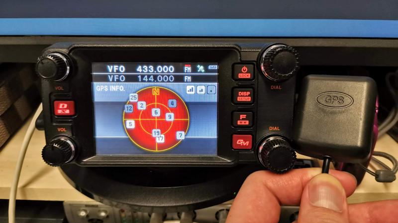 FTM-400XDに外部GPSを接続する