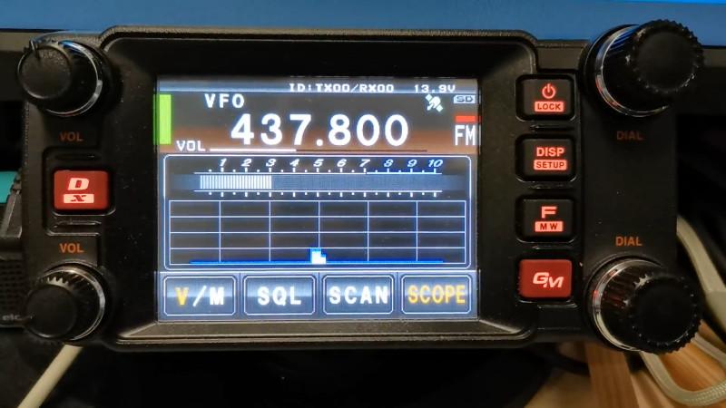 FTM-400XDで受信中